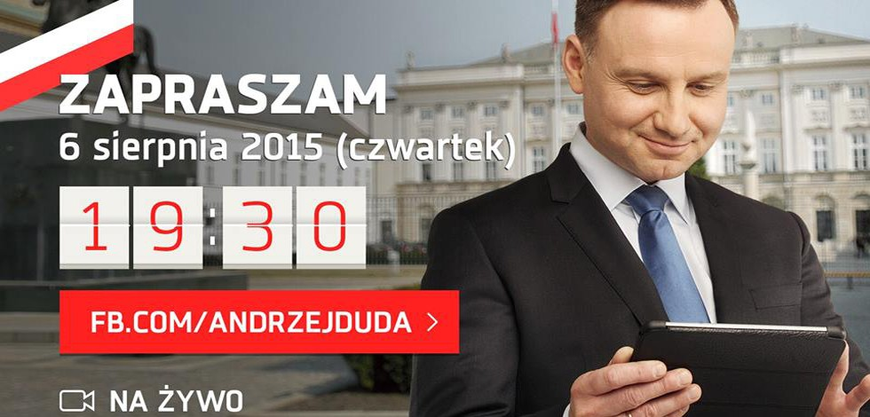 Andrzej Duda Live for Facebook Mentions